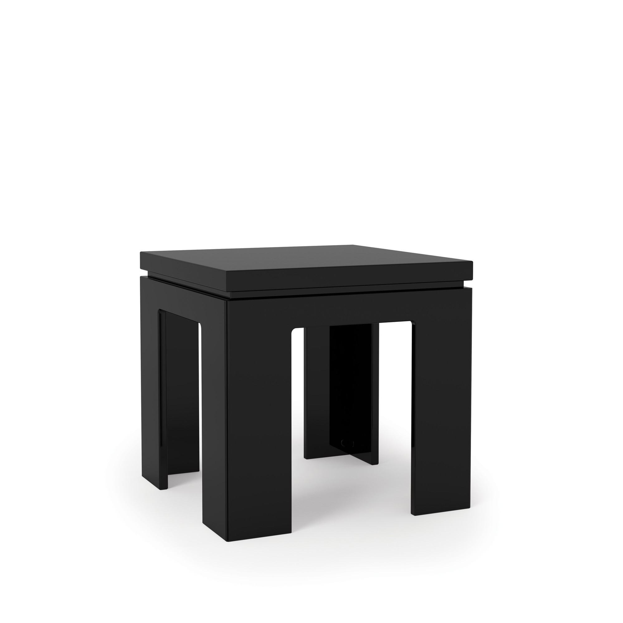 Black Modern Side Table Bridge 1 Black Gloss Modern Accent End Table By