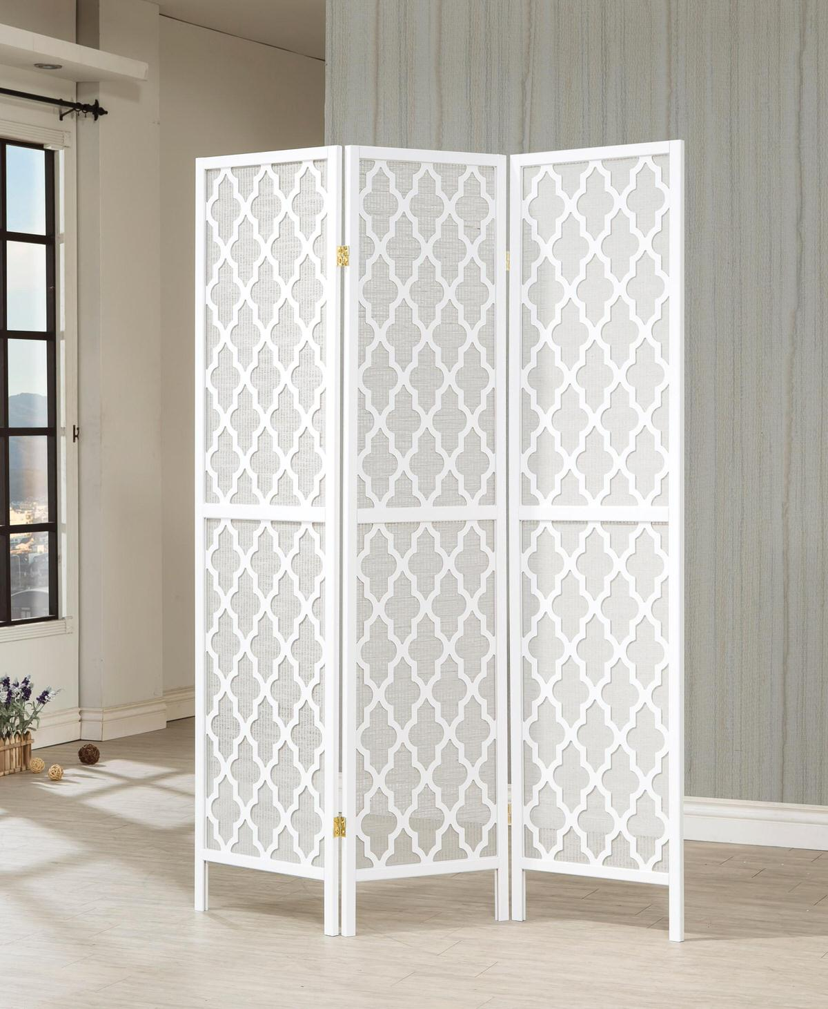 Room Divider Screens 901908 3 Panel Room Divider By Coaster