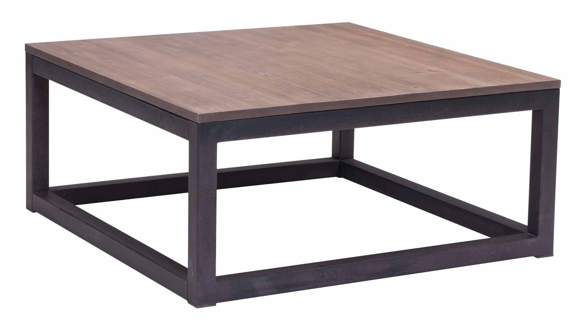 Civic Center Square Coffee Table Distressed Natural by Zuo