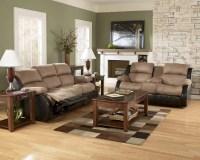 Presley-Cocao Reclining Sofa Set Signature Design by ...