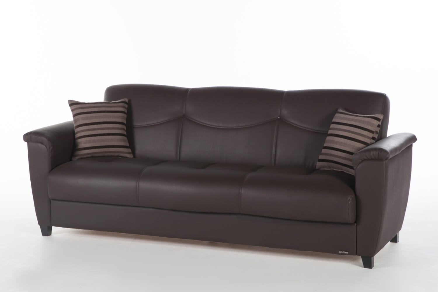 Sofa Barato Vintage Aspen Santa Glory Dark Brown Convertible Sofa Bed By Istikbal Furniture