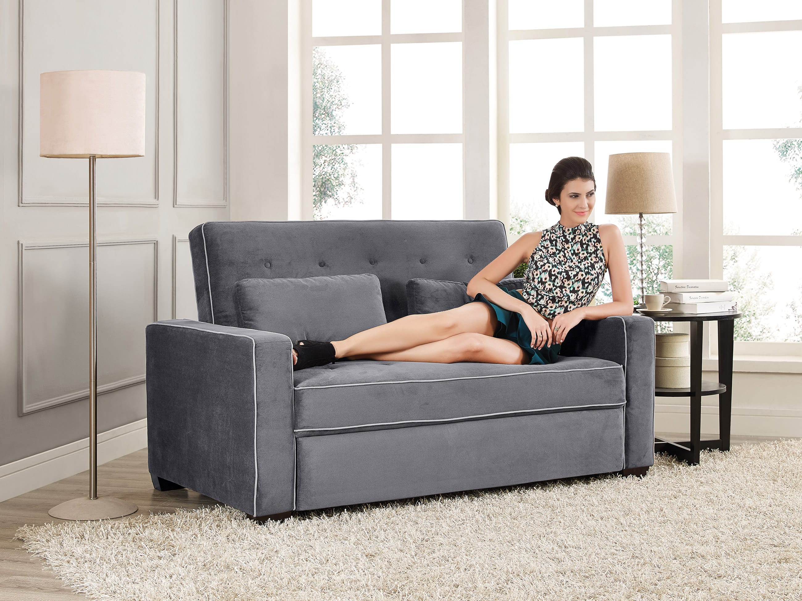 full bed sleeper sofa traditional couch futon augustine grey sofa sleeper the