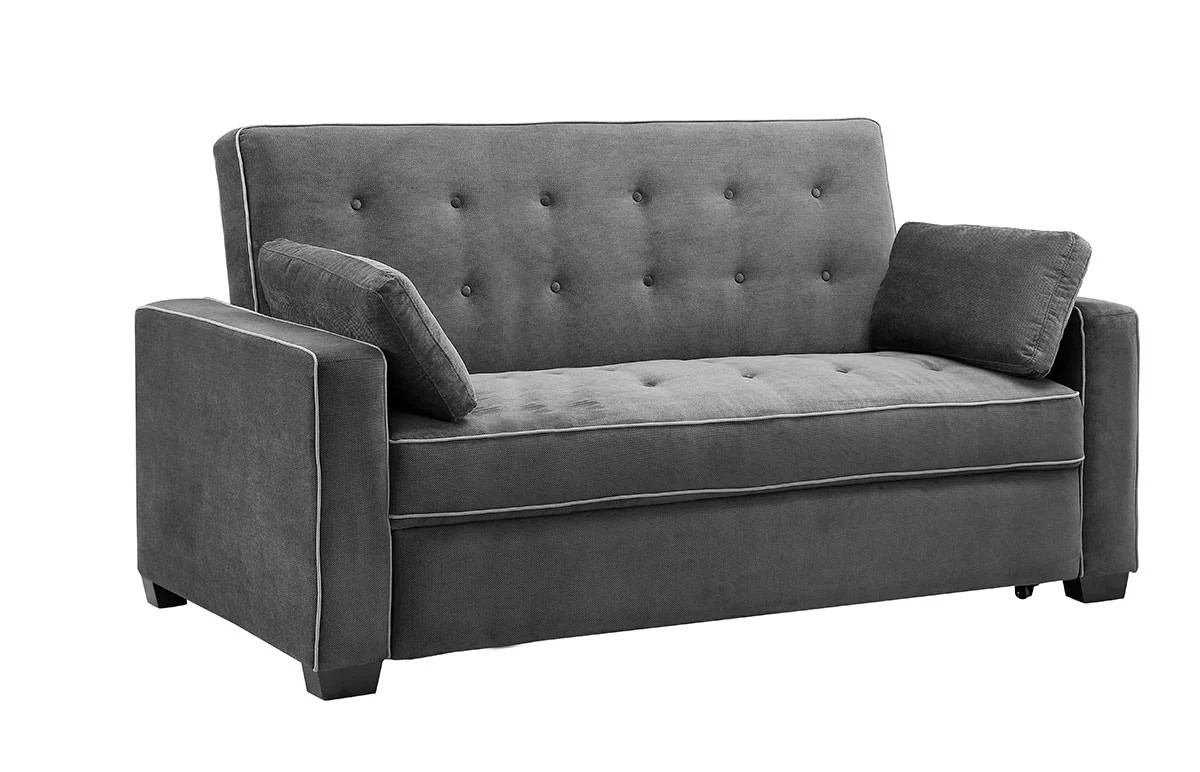 Ashley Pull Out Sofa Augustine Loveseat Queen Size Sleeper Moon Grey By Serta