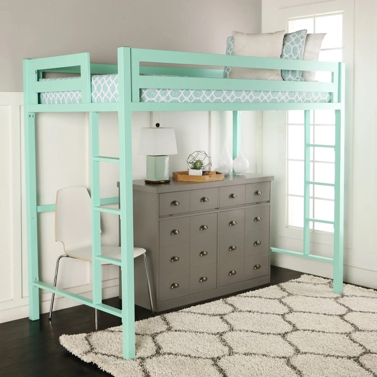 Black Loft Bed Bentley Twin Loft Bed Mint By Walker Edison