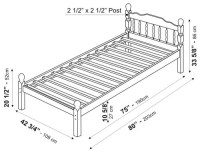 Chester Platform Bed Twin by Palace Imports