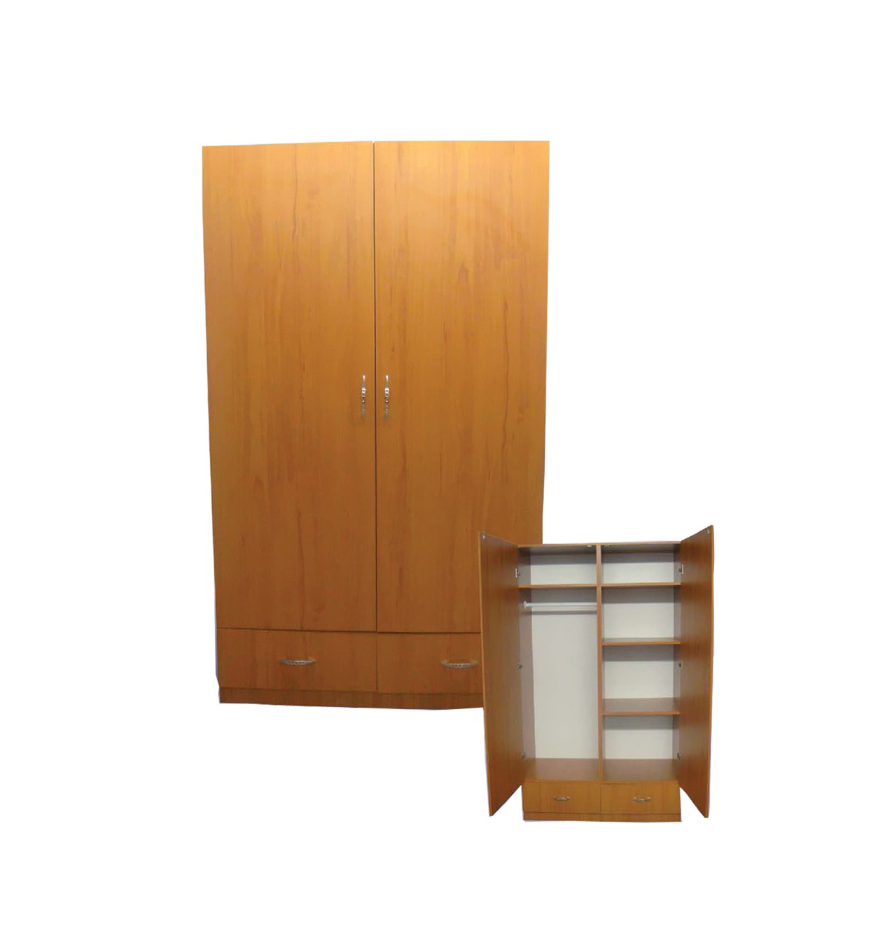 Wardrobe Furniture L 24 Brown Wooden Wardrobe By Central Furniture Factory