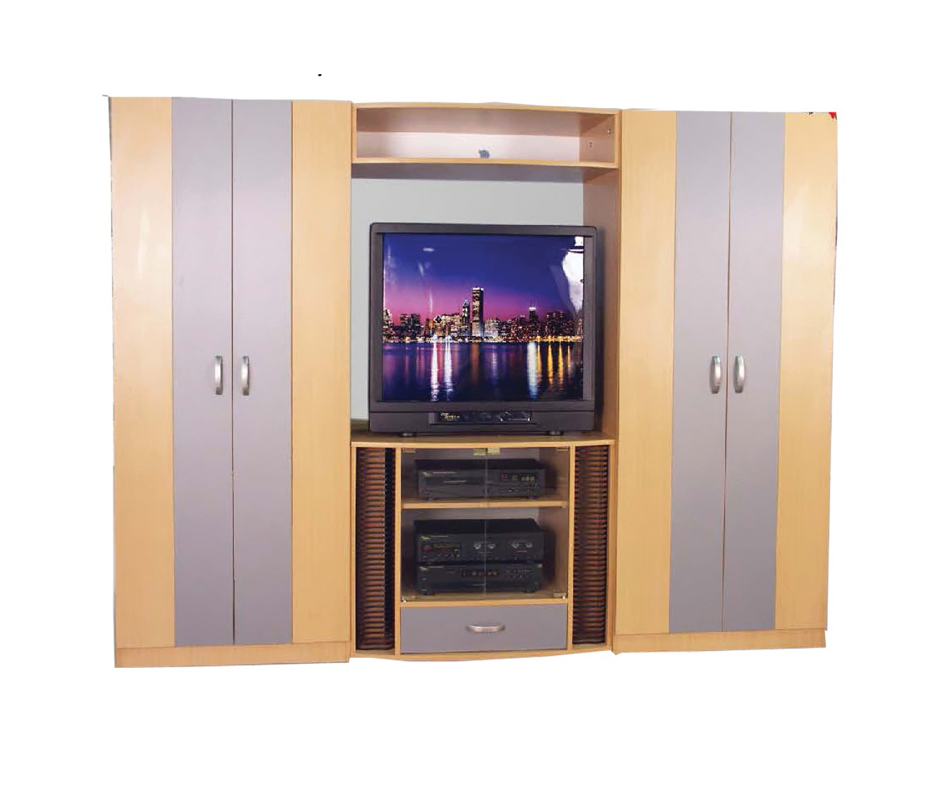 Wardrobe Furniture L 77 Brown Wooden Wardrobe By Central Furniture Factory