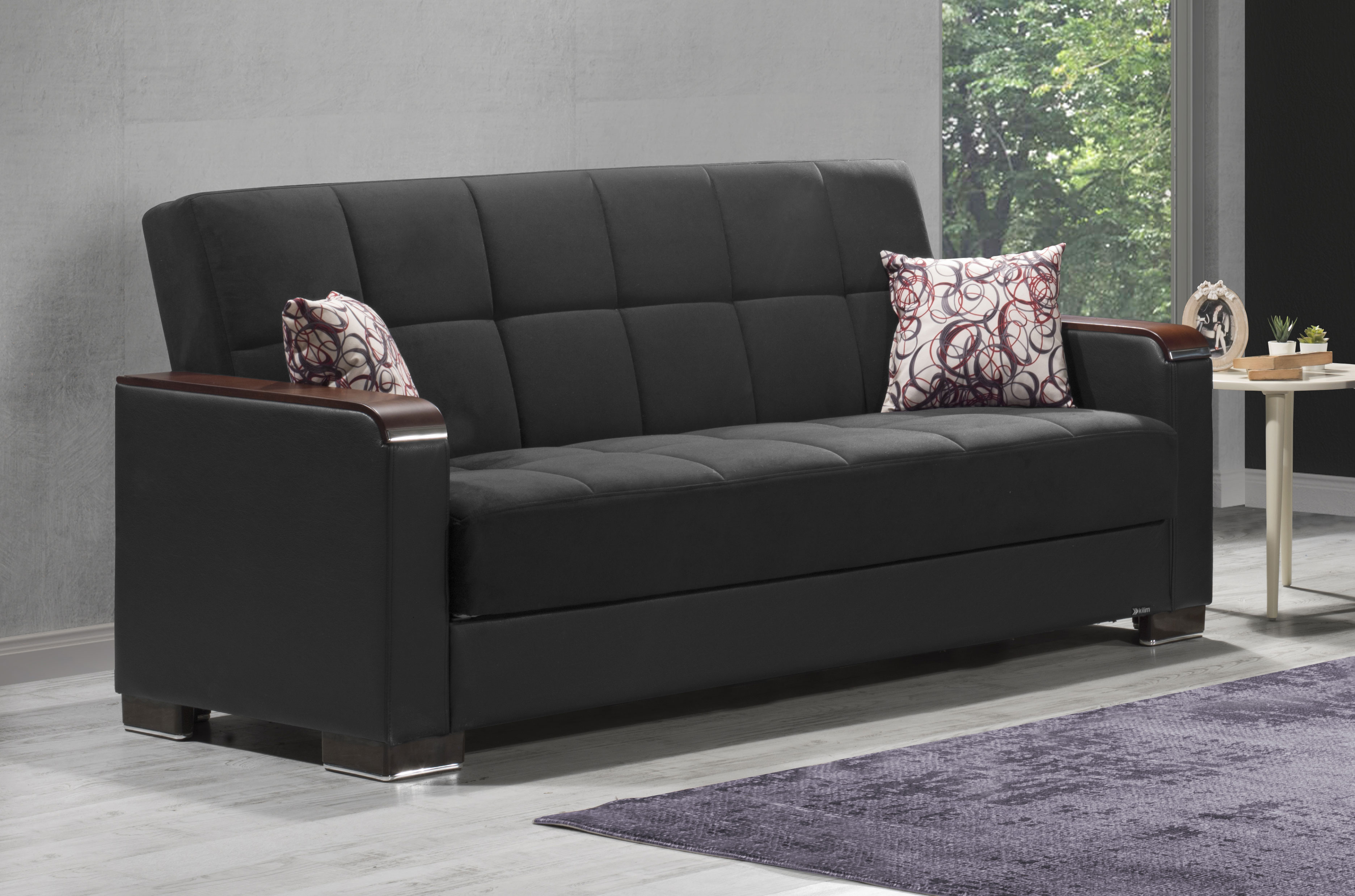 Sofa X Long Armada X Black Sofa Bed By Casamode
