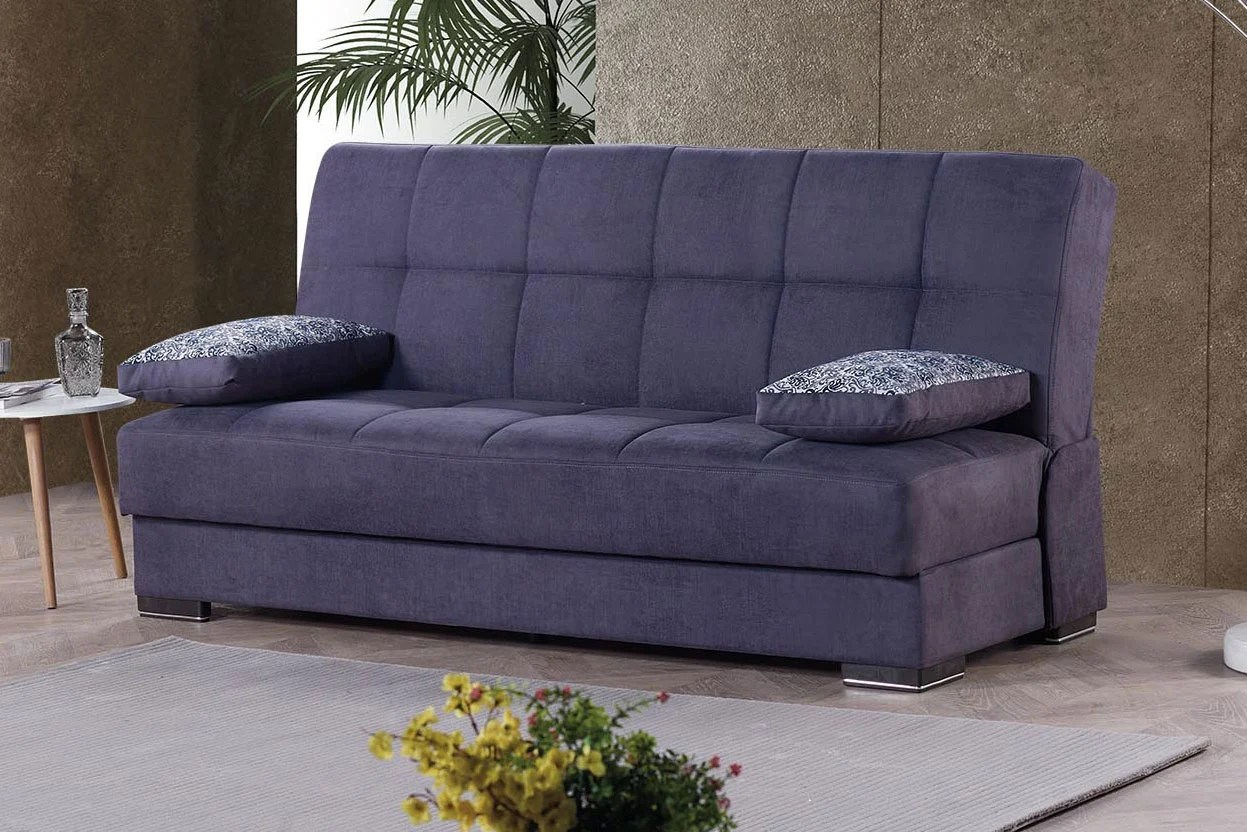 Sofa Fabric Soho Gray Fabric Convertible Sofa Bed By Casamode