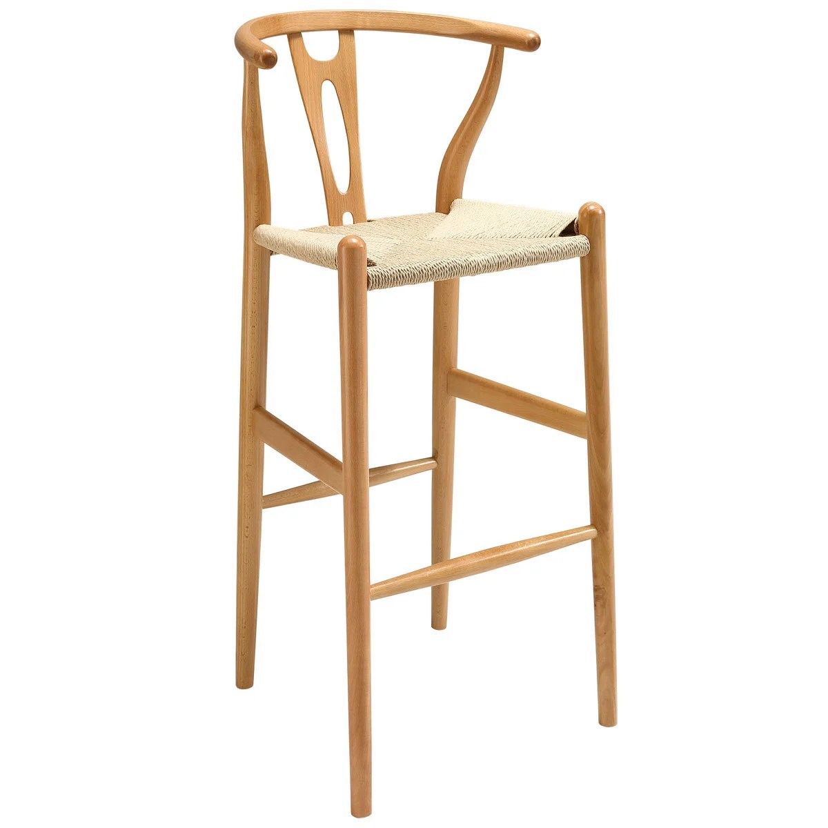 Modern Wood Counter Stool Amish Wood Bar Stool By Modway Furniture