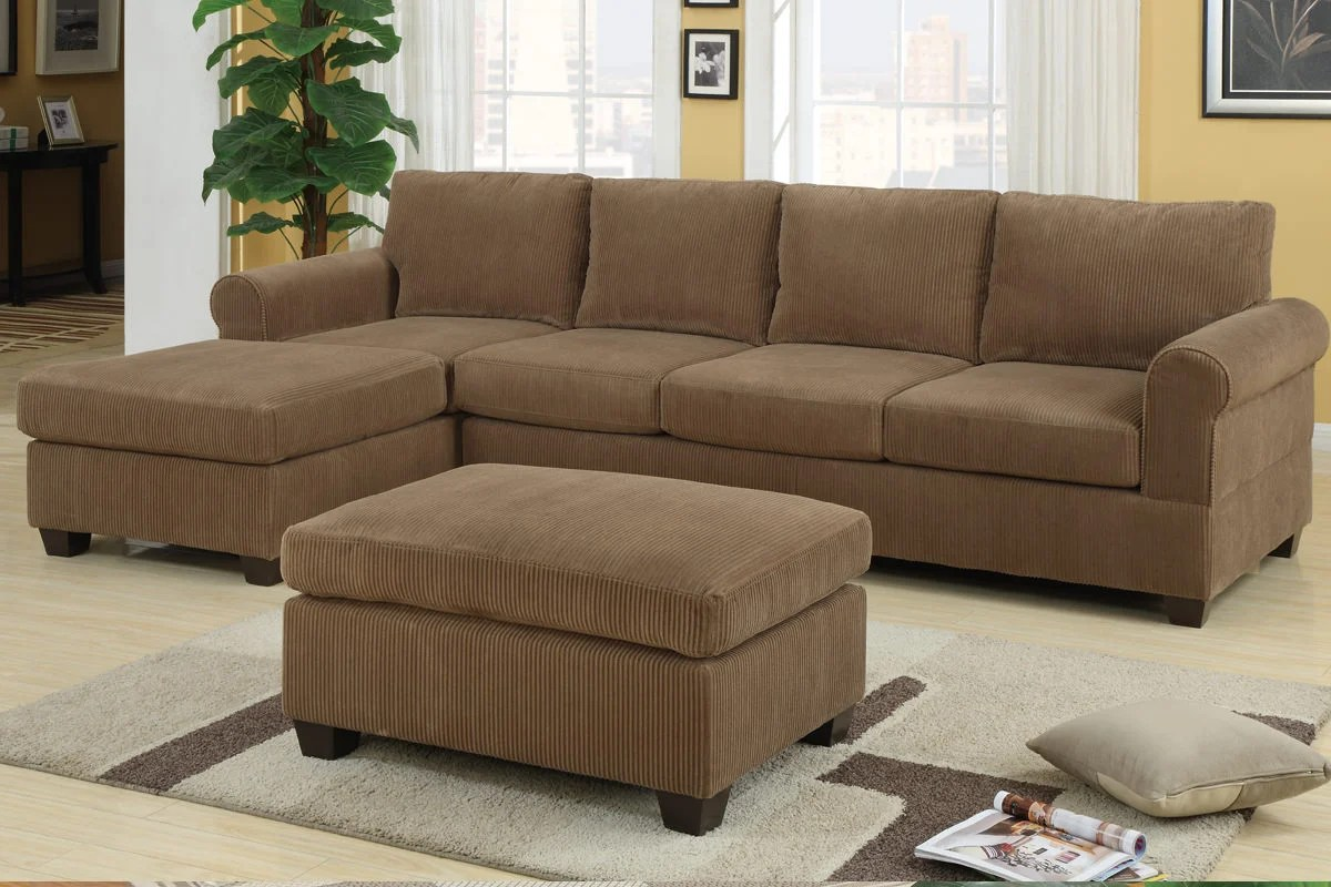 Sofa Set For Drawing Room In Pakistan F7146 Tan Sectional Sofa Set By Poundex
