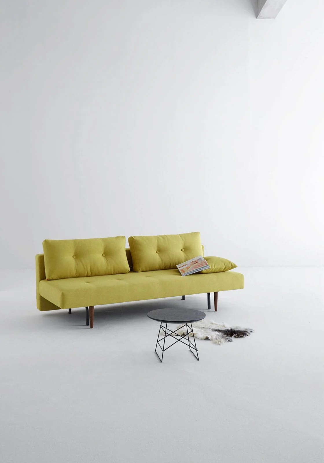 Halifax Inspirational Sofa Bed Floor Sample Recast Plus Sofa Bed Full Size Soft Mustard Flower By Innovation
