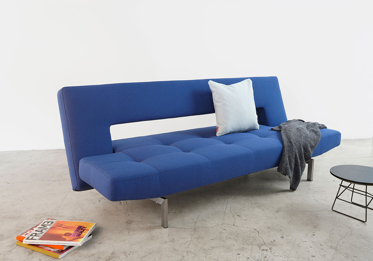 Halifax Inspirational Sofa Bed Wing Deluxe Sofa Bed Soft Sapphire Textile By Innovation