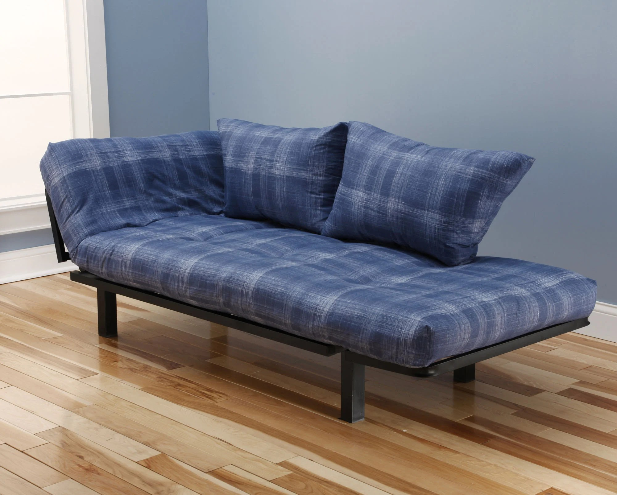 Daybed Frame Spacely Futon Daybed/lounger With Mattress Dungaree By Kodiak