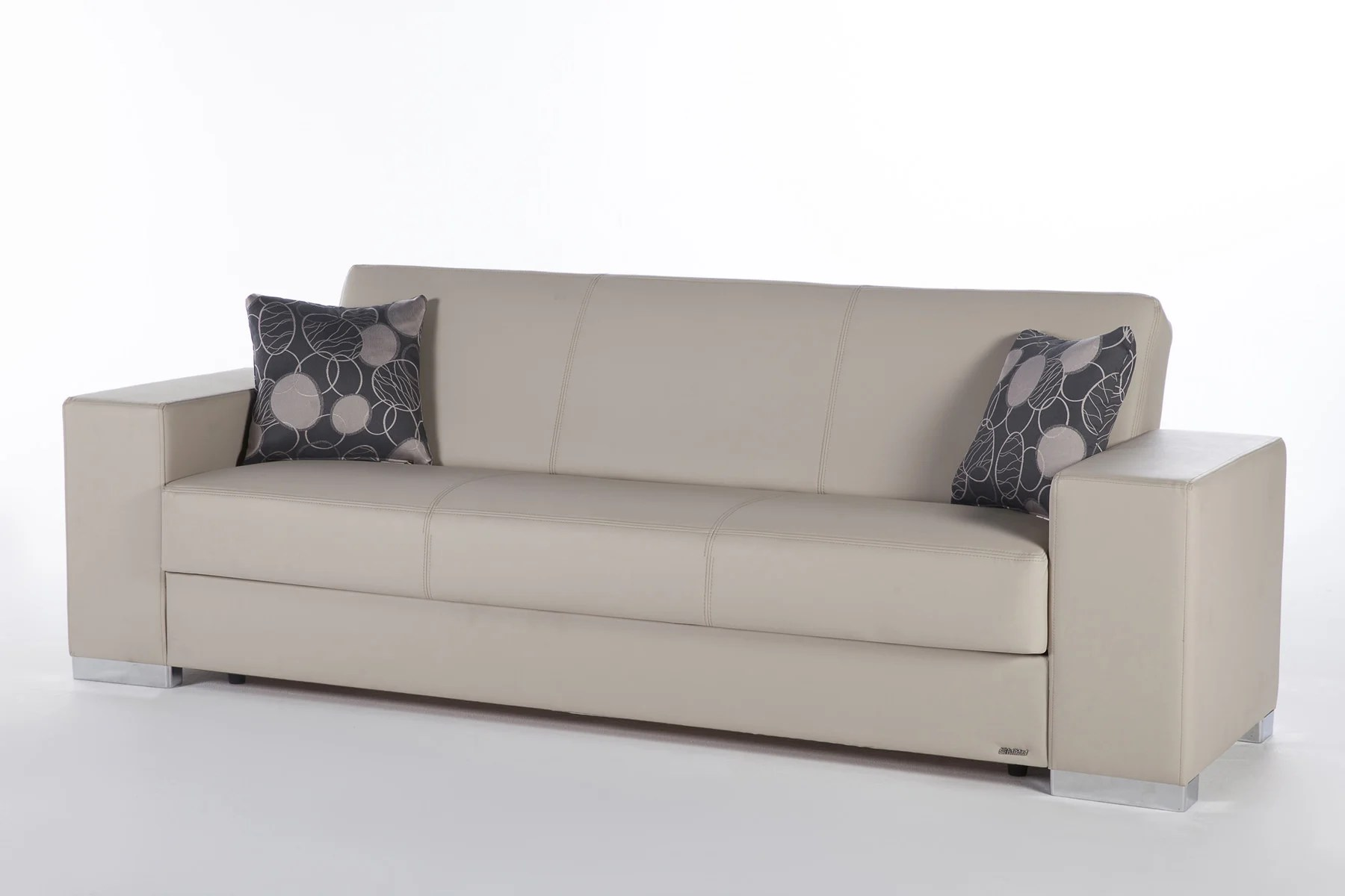Futon Factory Paris Kobe Santa Glory Cream Convertible Sofa Bed By Istikbal Furniture