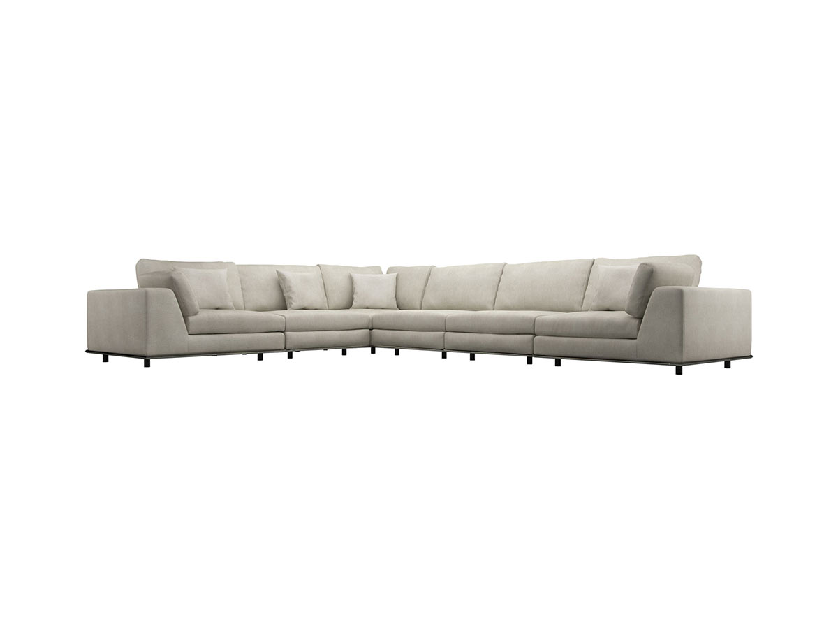 Sofa L Images Perry Extended L Sectional Sofa Moonbeam By Modloft