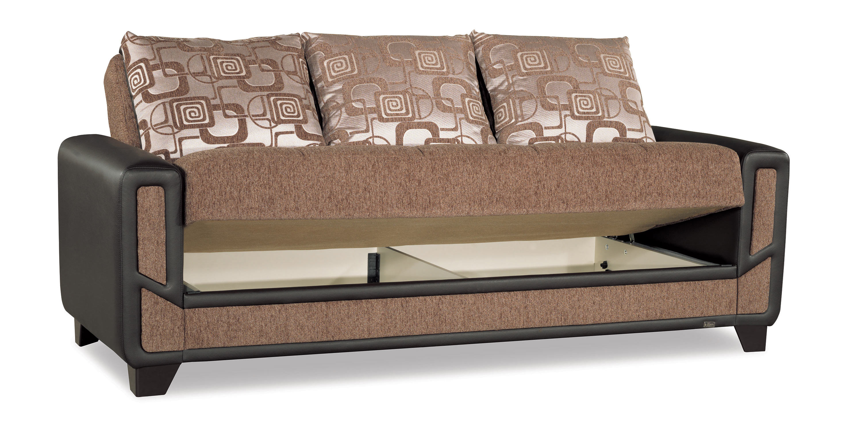 Sofa Modern Mondo Modern Brown Convertible Sofa Bed By Casamode