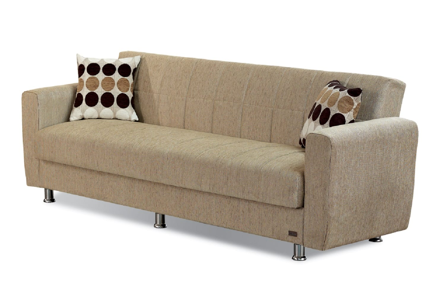Astoria Light Brown Fabric Sofa Bed By Empire Furniture Usa