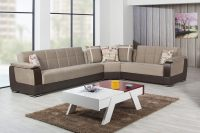 Modena Golf Light Brown Sectional Sofa by Casamode