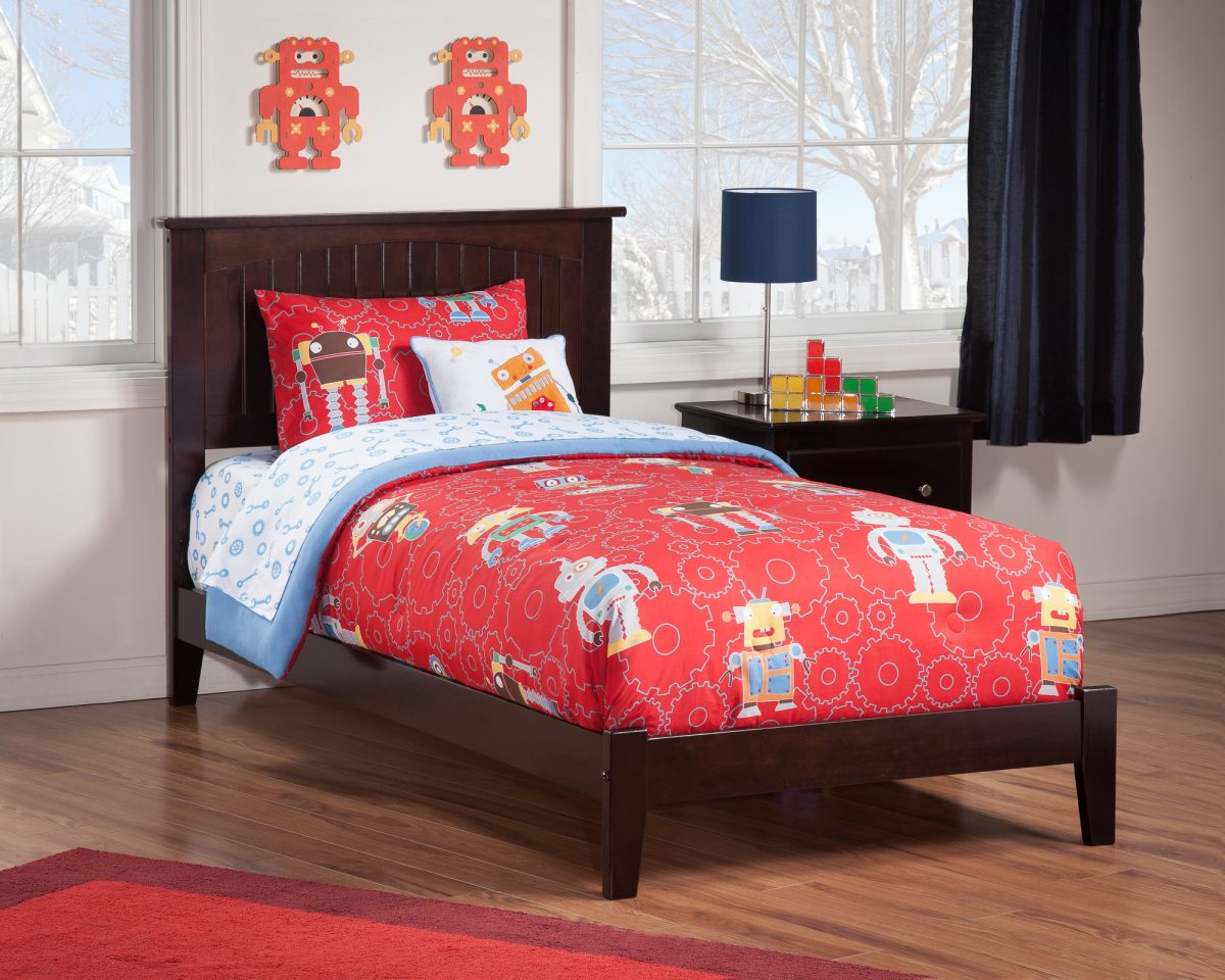 Classic Bedroom Escape Nantucket Espresso Platform Bed By Atlantic Furniture