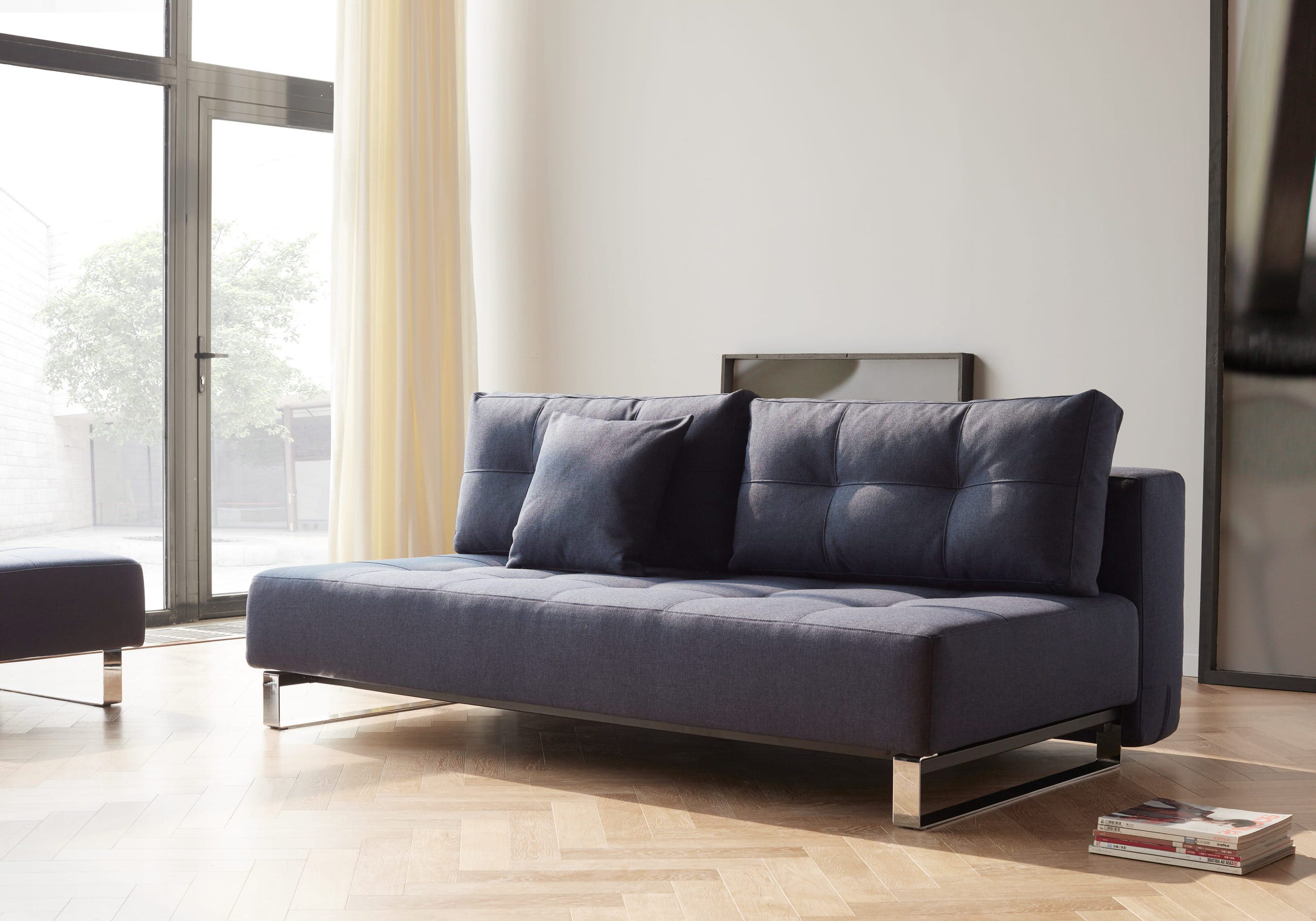 Large Sofa Beds Everyday Use Supremax Deluxe Excess Sofa Bed Queen Size Mixed Dance Blue By Innovation