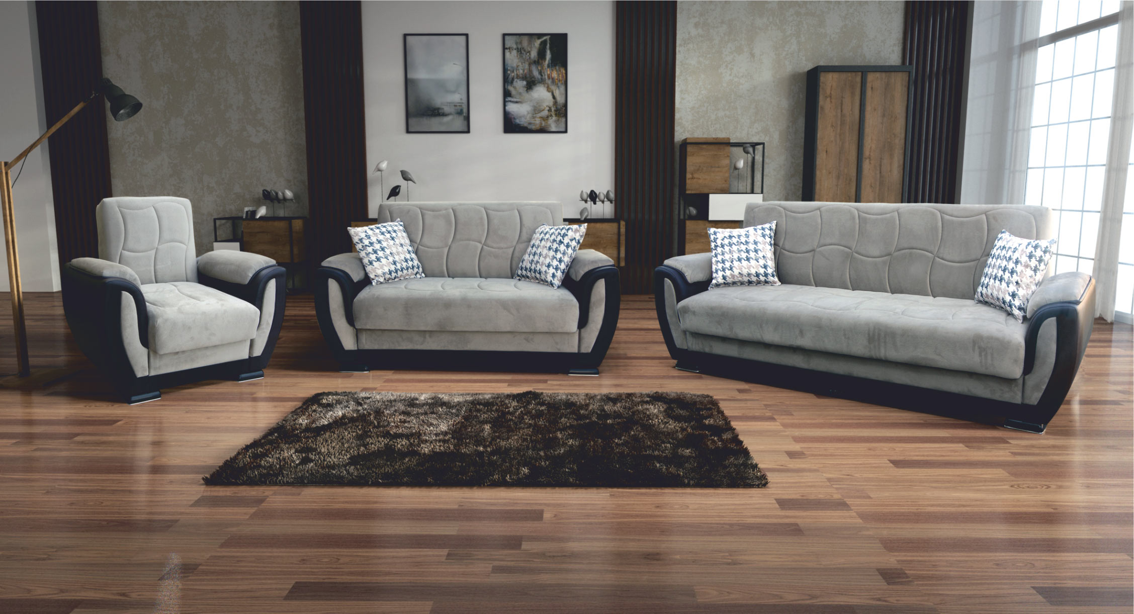 Gray Sofas For Living Room Scotty Gray Sofa By Skyler Designs