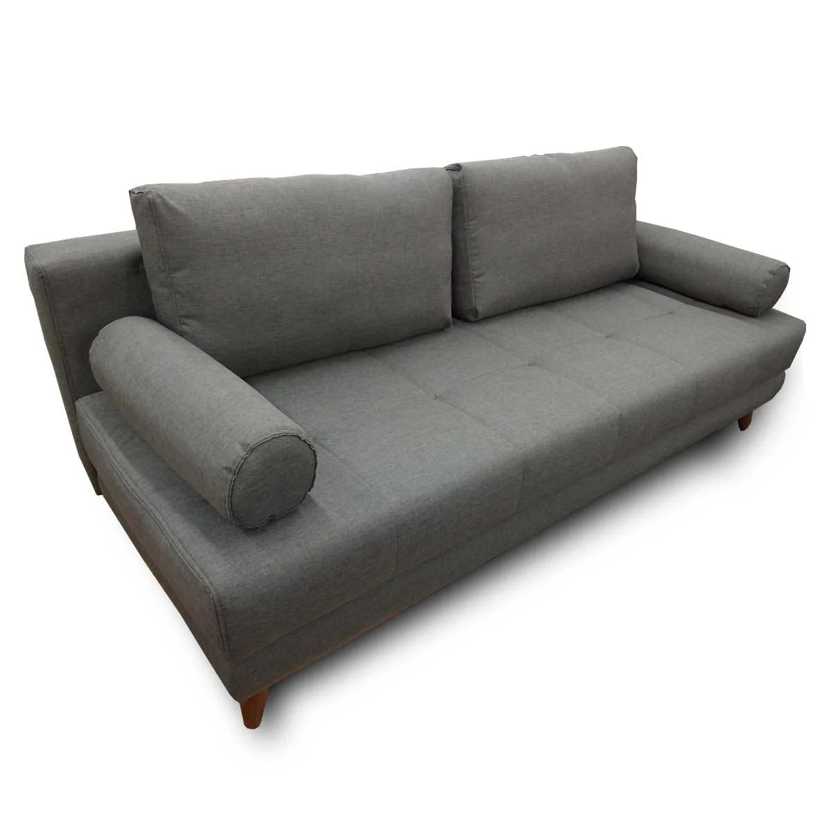 Futon Factory Paris Stella Diego Dark Gray Convertible Sofa Bed Queen Sleeper By Istikbal Furniture