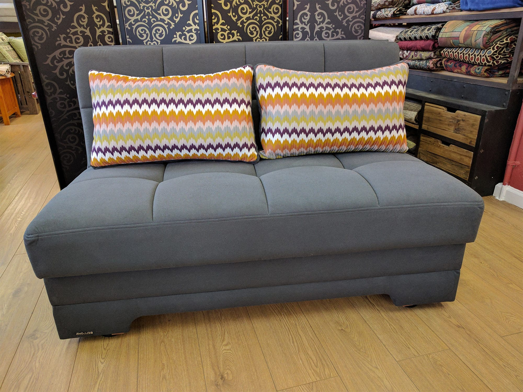 Futon Factory Paris Twist Zigana Gray 54
