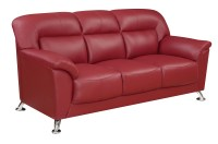 Red Vinyl Sofa Red Black Beige Brown Or White Modern Vinyl ...