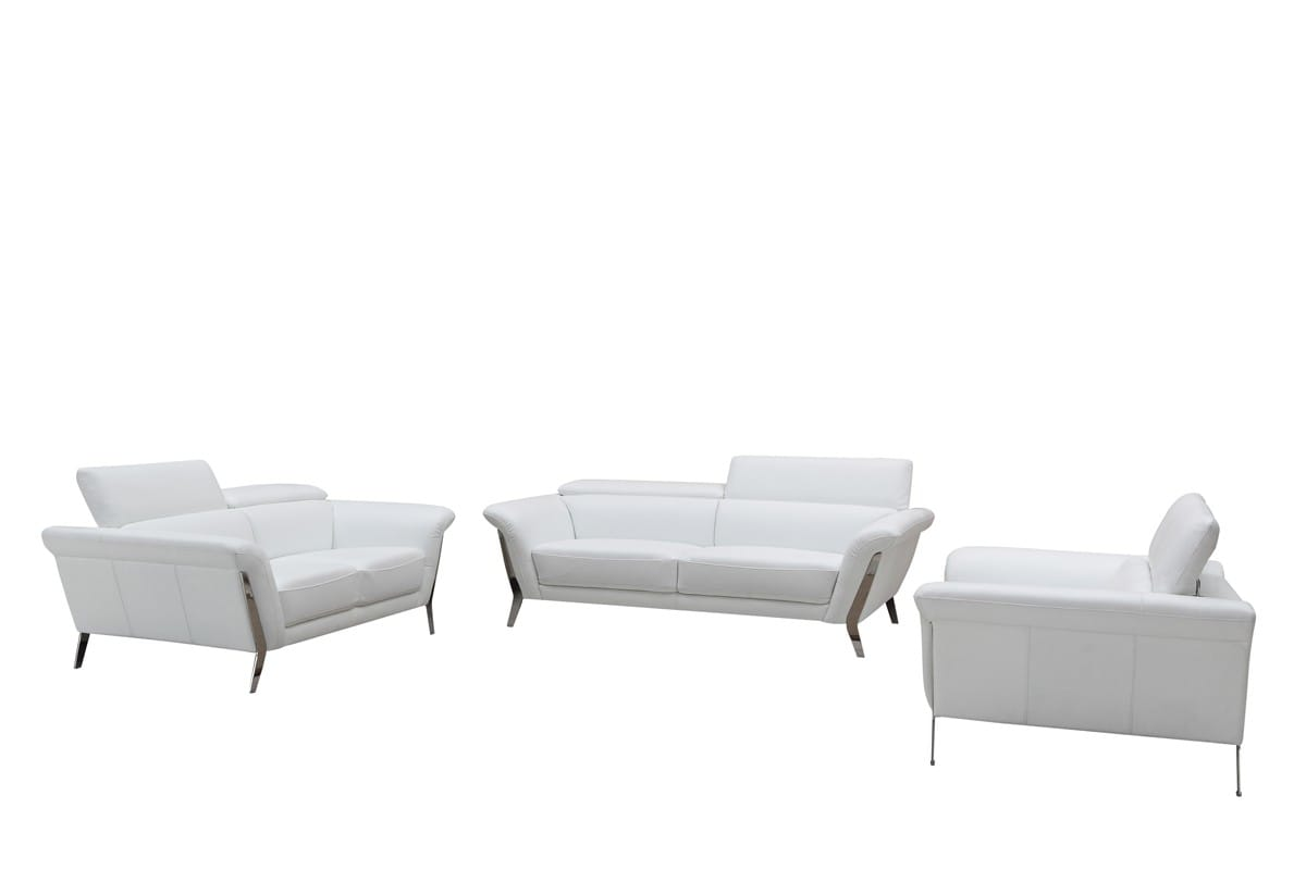 Divani Casa Ronen Modern White Leather Sofa Set By Vig Furniture