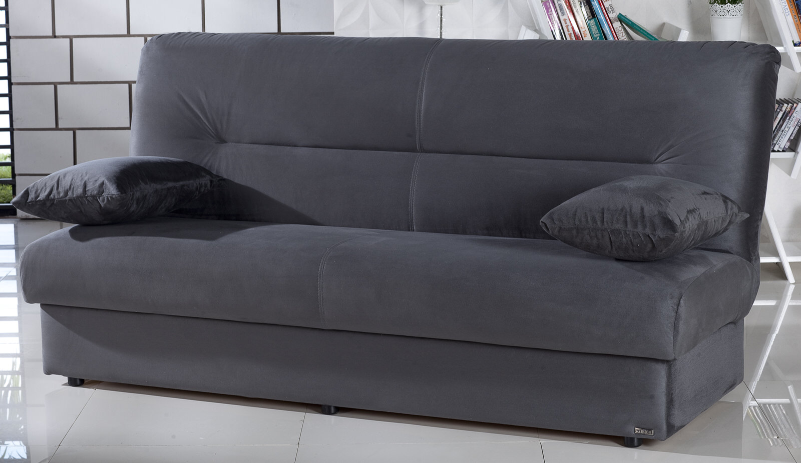 Futon Factory Paris Regata Rainbow Dark Gray Convertible Sofa Bed By Istikbal Furniture