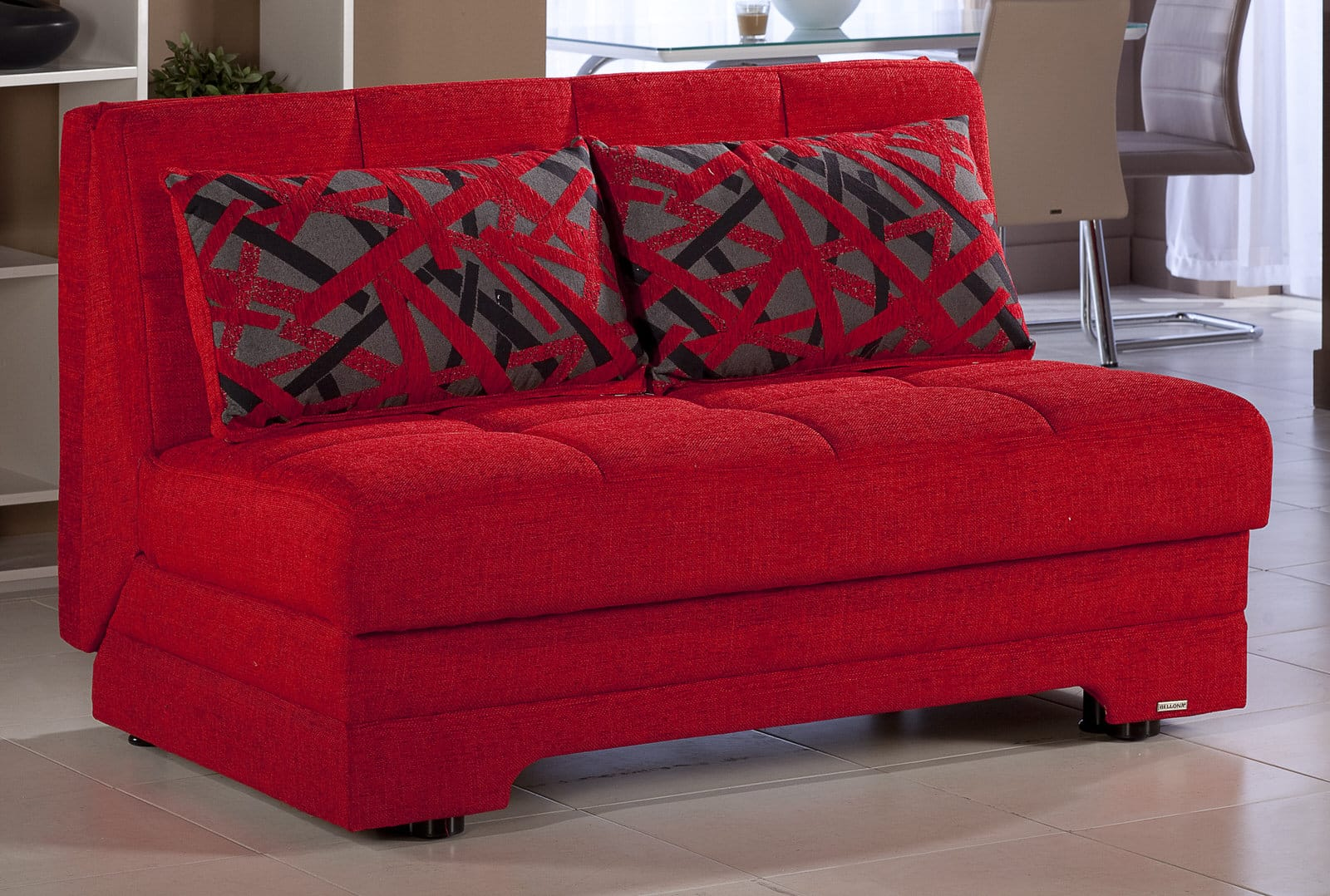 Chair Sleeper Twist Story Red Loveseat Sleeper By Istikbal (sunset)