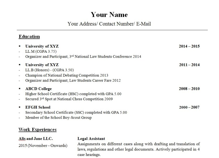 How to write a Law CV - Stand out from the crowd - The FutureLaw ...