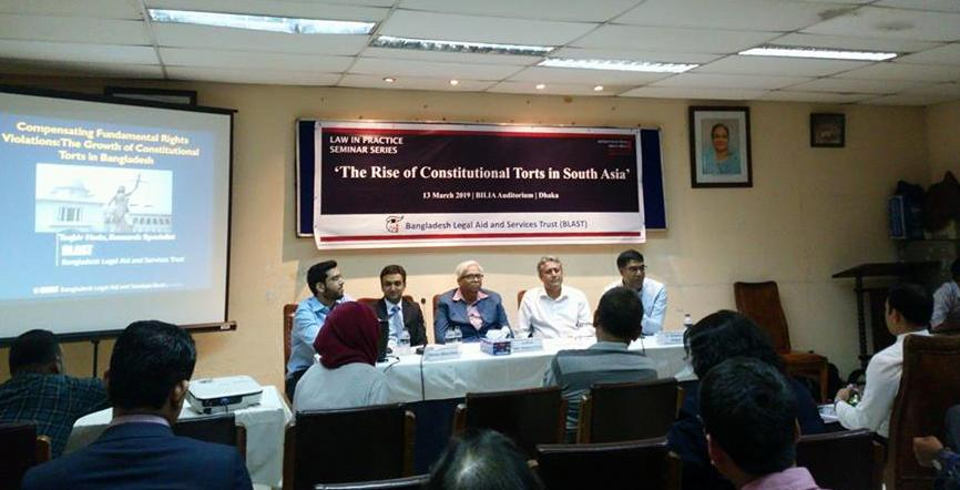 Seminar on the Rise of Constitutional Tort in South Asia held in Dhaka
