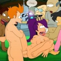"Take a look at wild sex orgy with main characters of ""Futurama""!"