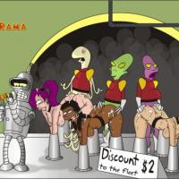 "Bender from ""Futurama"" earns cash by pimpi' pussy in a sexy space orgy!"