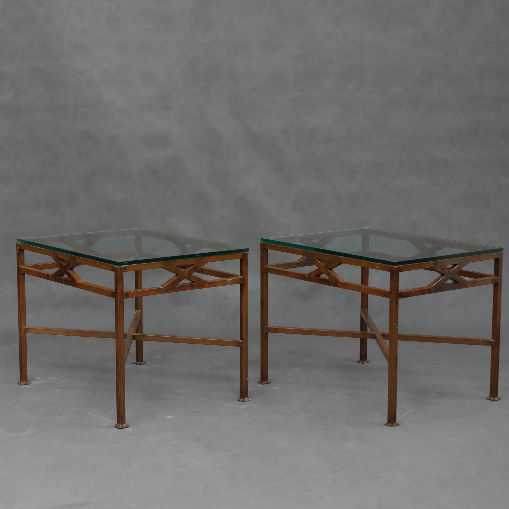 Swedish Mid Century Furniture Pair Of Swedish Mid Century Iron Side Tables