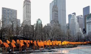 Christo and Jeanne-Claude  The Gates, Central Park, New York City, 2005  Photo: Wolfgang Volz