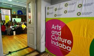 Day 1 of the Arts and Culture Indaba (photo by Bruce Sutherland)
