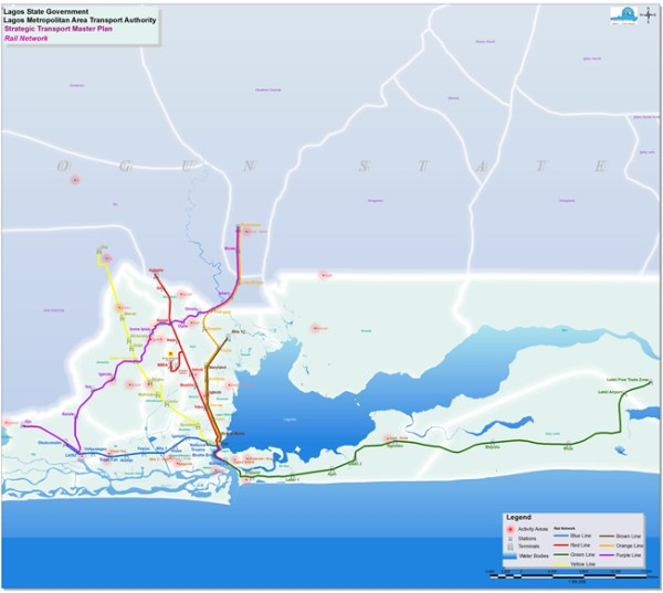 Lagos Rail Mass Transit Network Source: Lagos Metropolitan Area Transport Authority (LAMATA)