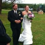 Tom Kelley walks daughter Katie down the aisle in NH.