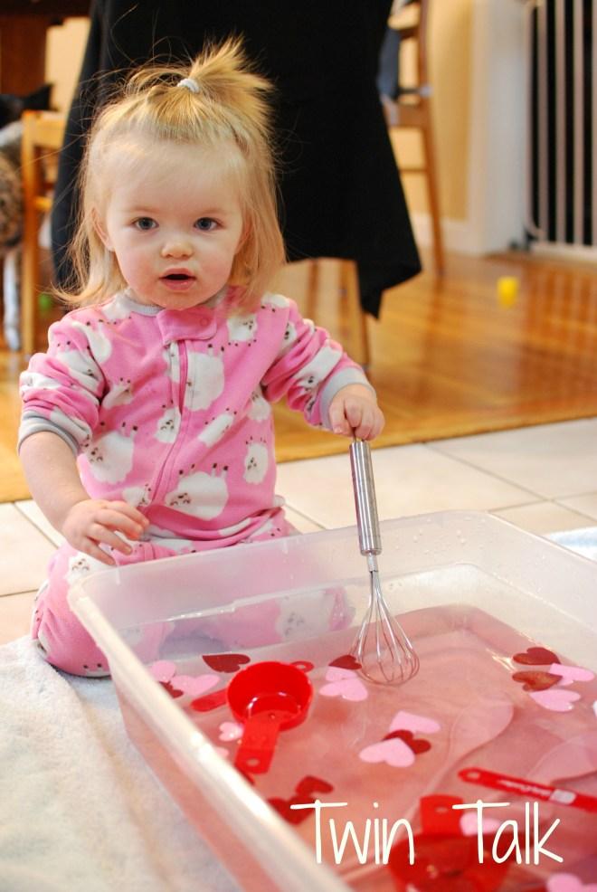 Valentine's Day Soup Water Sensory Bin