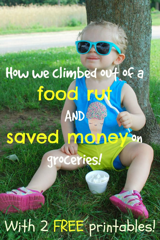 How we climbed out of a food rut and saved money on groceries!