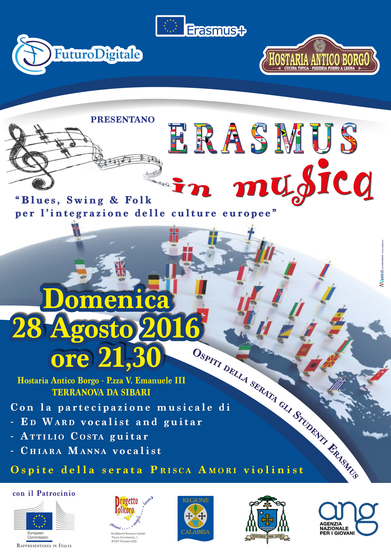 Cucina A Legna Folk Erasmus In Musica Blues Swing Folk For The Integration Of