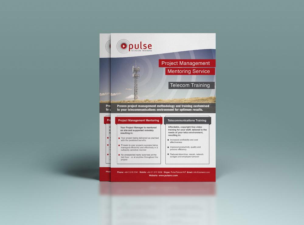 Flyer Design - Pulse Telecome Training, Carterton