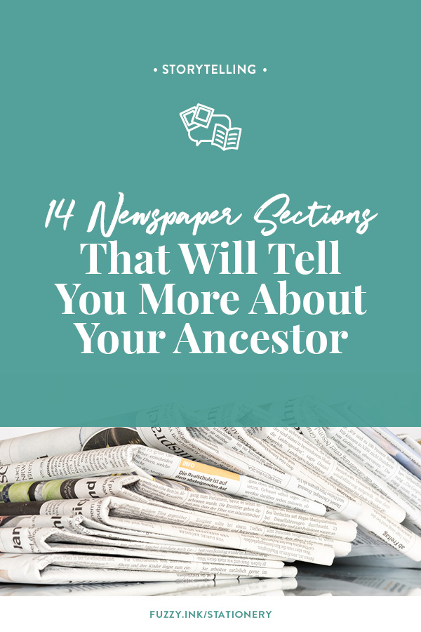 14 Newspaper Sections That Will Tell You More About Your Ancestor