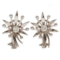 Diamond Earrings in 14 Karat White Gold | Cowan's Auction ...