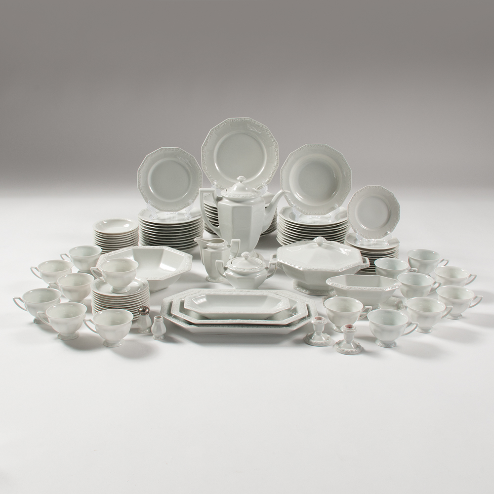 Service Weiß Rosenthal Maria Weiss Dinnerware Service For Twelve Lot Of