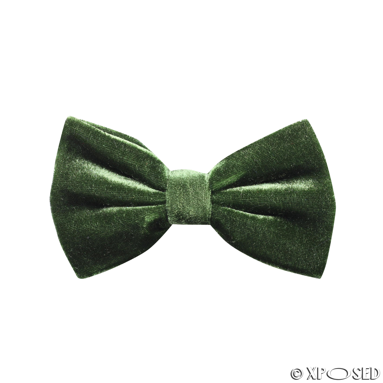 Mens Trendy Velvet Adjustable Bow Tie Cufflinks Hanky 3