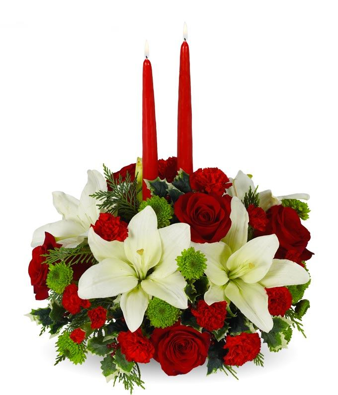 Christmas Floral Centerpiece at From You Flowers - christmas floral decorations